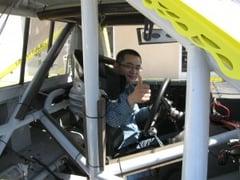 Bob in the-R L NASCAR Truck