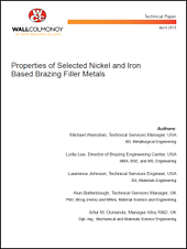 Tech Paper - Properties of Selected Nickel and Iron Based Brazing Filler Metals