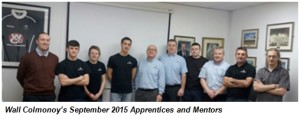 Wall Colmonoy's September 2015 Apprentices and Mentors