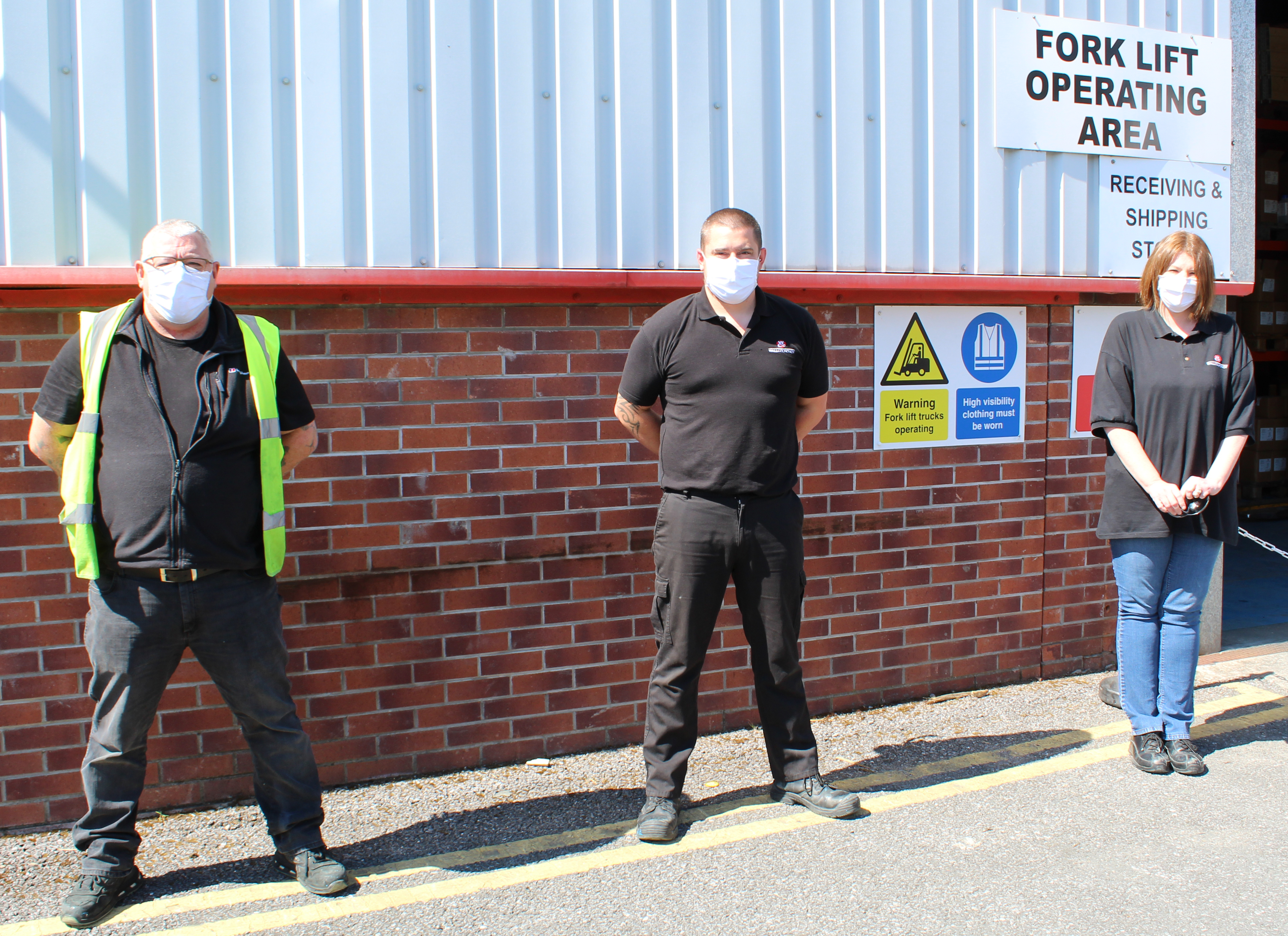 Mark Young, Craig Neilson and Alison Smith from the Shipping department.