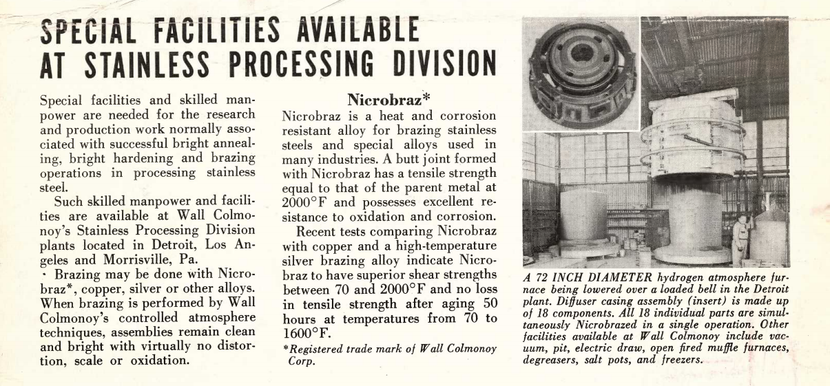 Special-Facilities-Available-At-Stainless-Processing-Division-1956-Colmonoy-News