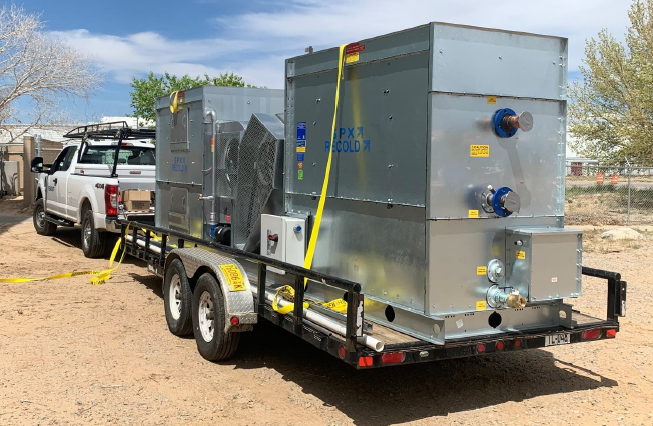 Two new Recold Chillers being delivered to Alloy Products, Los Lunas, New Mexico-1