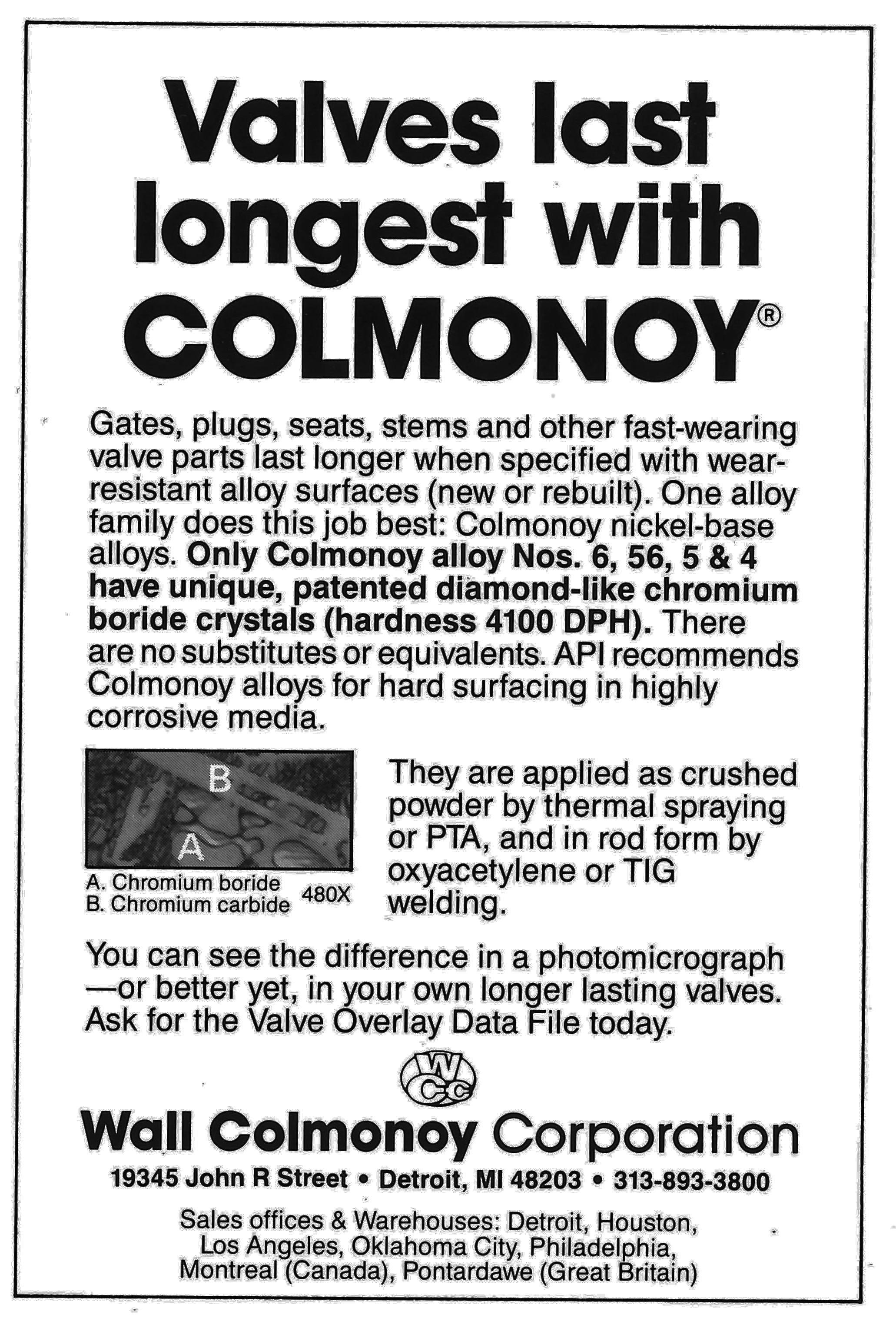 Valves Last Longer with Colmonoy