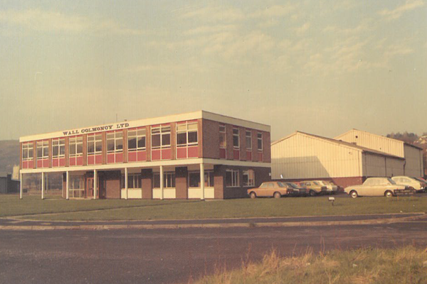 Wall Colmonoy Limited (UK) in Pontardawe, Wales. Canal Side building in 1970s. Site of current building
