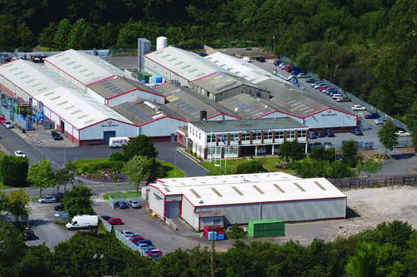 Arial view of Wall Colmonoy Limited (UK) after expansion in the 2000s due to increased demands  for powder manufacturing